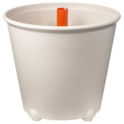 IKEA PS FEJÖ อิเกีย พีเอส เฟย์เออ กระถางมีที่จ่ายน้ำ, ขาว, 32 ซม.