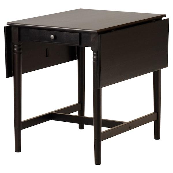 INGATORP อิงงาทอร์ป / STEFAN สเตียฟาน ชุดโต๊ะและเก้าอี้ 2 ตัว, น้ำตาลดำ/น้ำตาลดำ, 65 ซม.