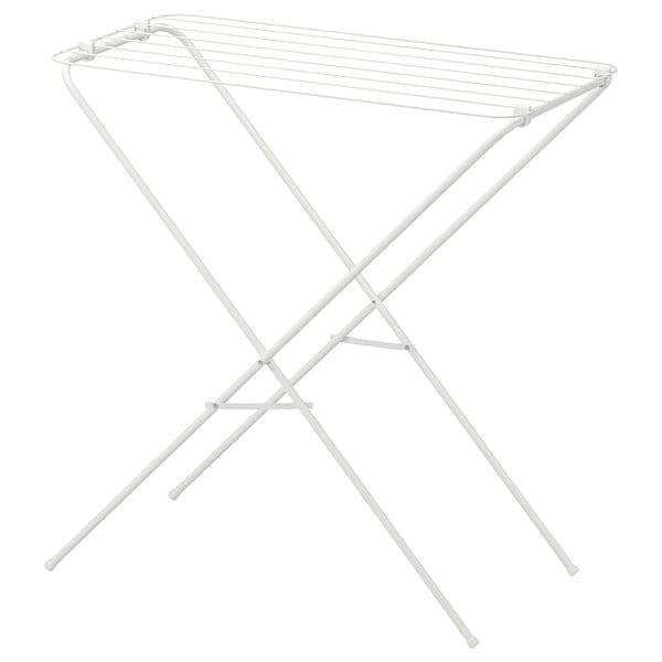 JÄLL แยลล์ ราวตากผ้า ในร่ม/กลางแจ้ง, ขาว