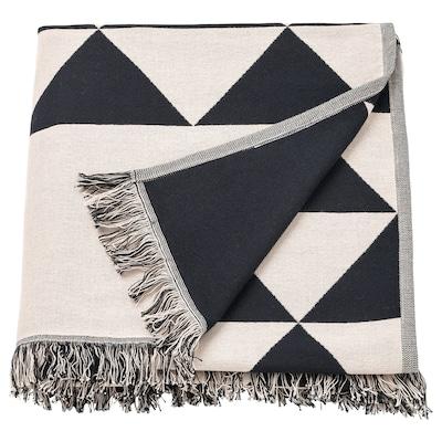 JOHANNE โยฮันเน ผ้าคลุม, ดำ/เนเชอรัล, 130x170 ซม.