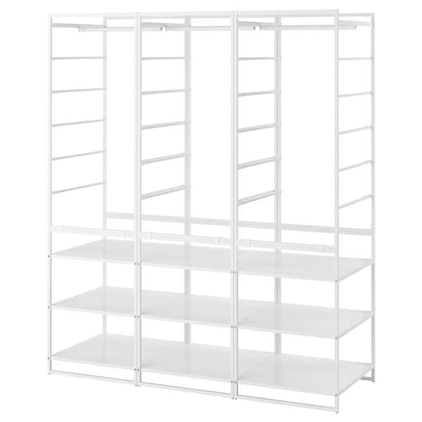 JONAXEL ยูเน็กเซล ชุดตู้เสื้อผ้า, ขาว, 148x51x173 ซม.