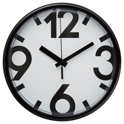 JYCKE ยูคเกอ นาฬิกาแขวนผนัง, ขาว/ดำ, 23 ซม.