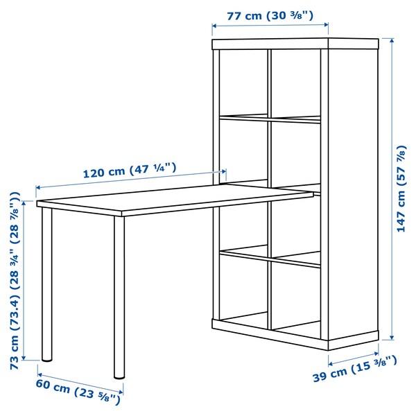 คอลแล็กซ์ ชุดโต๊ะทำงาน น้ำตาลดำ 77 ซม. 159 ซม. 147 ซม.