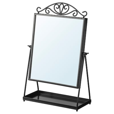 KARMSUND คาร์มซุนด์ กระจกเงาตั้งโต๊ะ, ดำ, 27x43 ซม.
