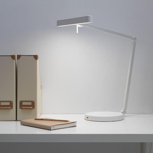 KAXLIDEN คักซ์ลีเดน โคมไฟ LED โต๊ะทำงาน, ขาว/หรี่ไฟได้