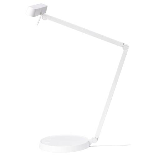 คักซ์ลีเดน โคมไฟ LED โต๊ะทำงาน ขาว/หรี่ไฟได้ 33 ซม. 60 ซม. 20 ซม. 2.0 ม. 9 วัตต์