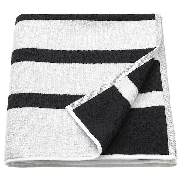 KINNEN ชินเนน ผ้าเช็ดตัว, ขาว/ดำ, 70x140 ซม.