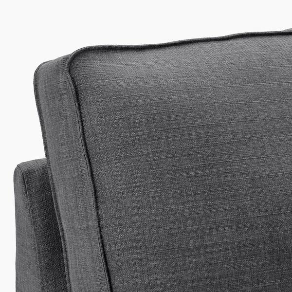 KIVIK ชีวิค โซฟา4ที่นั่ง, +เก้าอี้นวมตัวยาว/ควิฟเตโบ เทาเข้ม