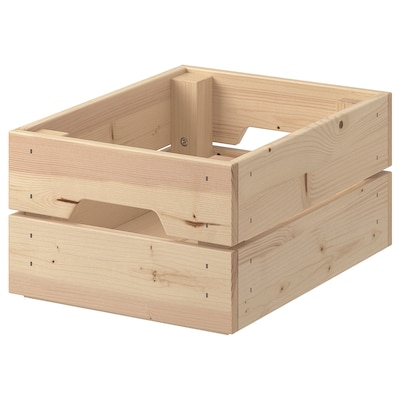 KNAGGLIG คนักกลิก กล่องไม้, ไม้สน, 23x31x15 ซม.