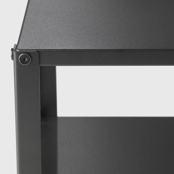 KNARREVIK คนาร์เรียวีค โต๊ะข้างเตียง, ดำ, 37x28 ซม.