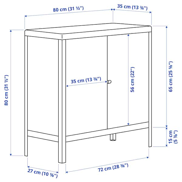 KOLBJÖRN โคลบเยิร์น ตู้ ภายใน/กลางแจ้ง, เบจ, 80x81 ซม.