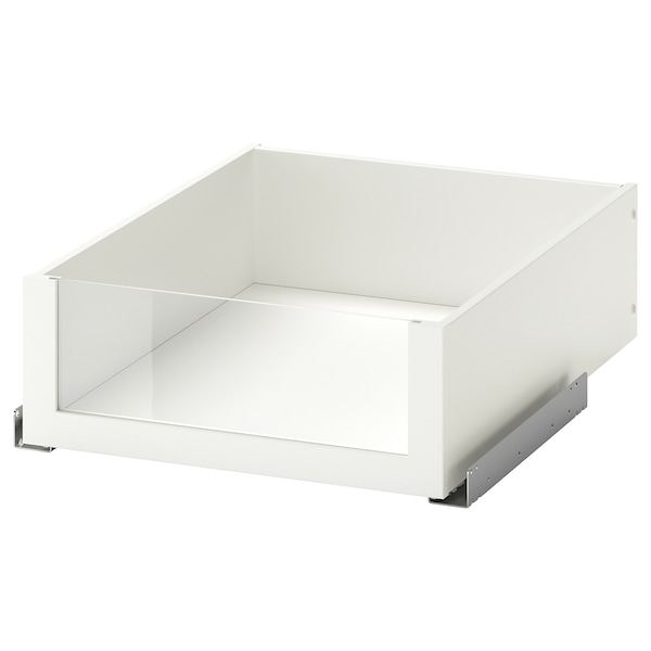 KOMPLEMENT คอมเพลียเมนท์ ลิ้นชักแบบบานกระจก, ขาว, 50x58 ซม.
