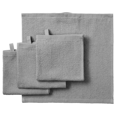 KORNAN คูร์นาน ผ้าขนหนู, เทา, 30x30 ซม.