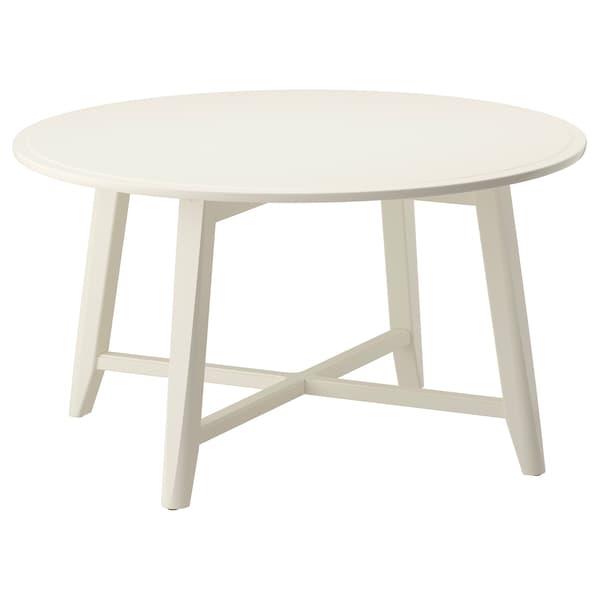 KRAGSTA คร็อกสต้า โต๊ะกลาง, ขาว, 90 ซม.