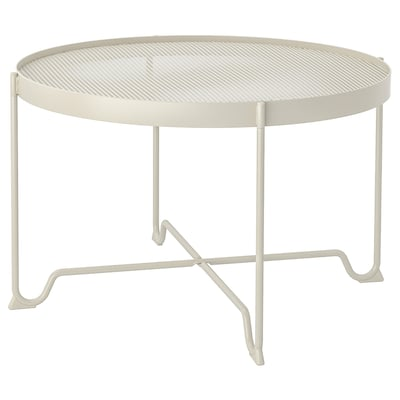 KROKHOLMEN ครูคโฮลเมน โต๊ะกลาง กลางแจ้ง, เบจ, 73 ซม.