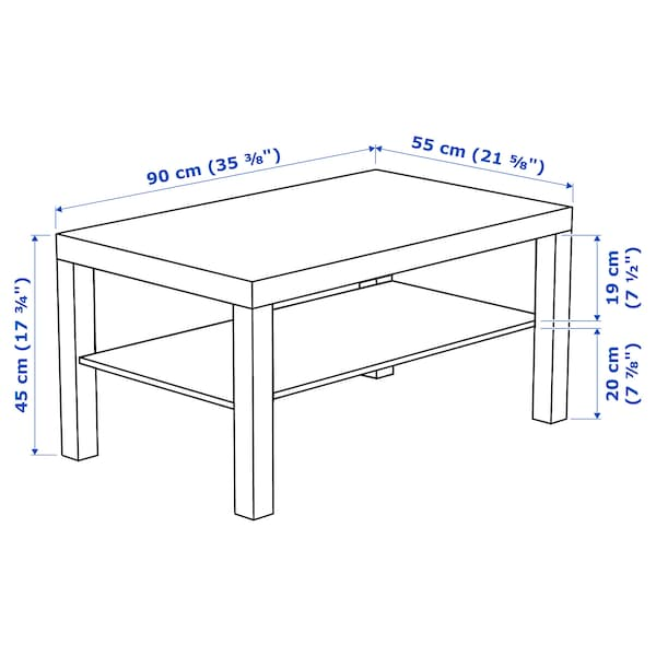 LACK ลัค โต๊ะกลาง, ขาว, 90x55 ซม.