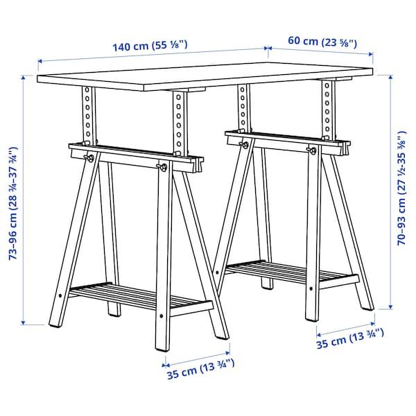 LAGKAPTEN ลาคแคปเทียน / MITTBACK มิทท์แบ็ค โต๊ะทำงาน