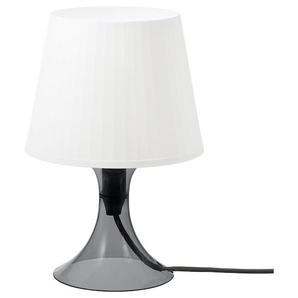 LAMPAN ลัมปั้น โคมไฟตั้งโต๊ะ, เทาเข้ม/ขาว, 29 ซม.