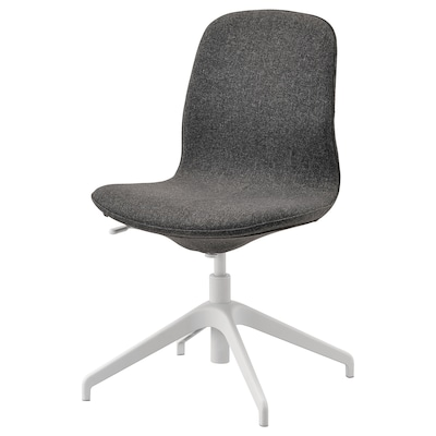 LÅNGFJÄLL ลองฟแยล เก้าอี้ประชุม, กุนนาเรียด เทาเข้ม/ขาว