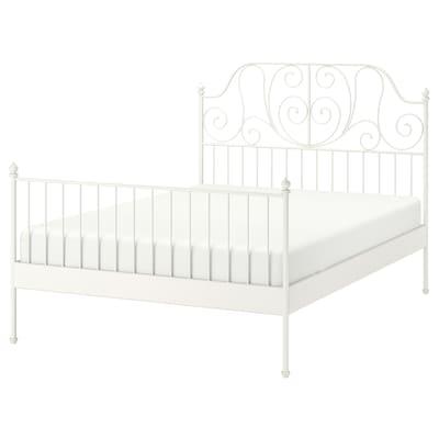 LEIRVIK เลียร์วีค โครงเตียง, ขาว/ลูร์เอย, 150x200 ซม.