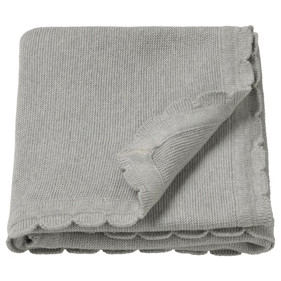 LEN เลียน ผ้าห่ม, ถักไหมพรม/เทา, 70x90 ซม.