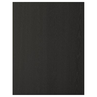 LERHYTTAN เลียร์ฮึตตัน แผ่นปิดข้างตู้ครัว, ย้อมสีดำ, 62x80 ซม.