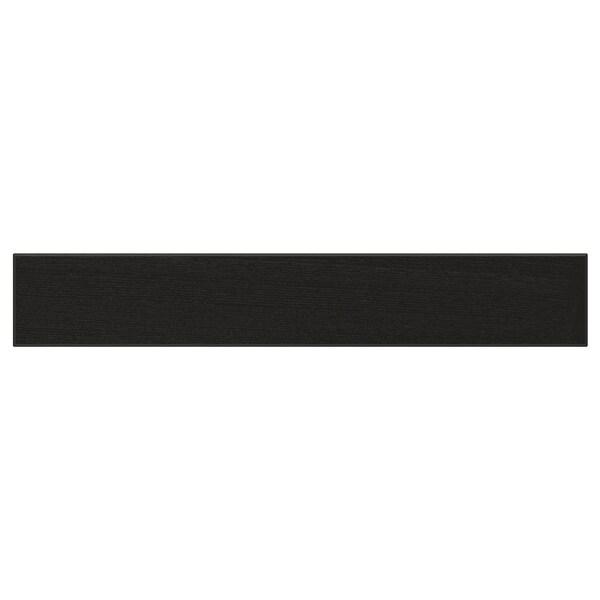 LERHYTTAN เลียร์ฮึตตัน หน้าลิ้นชัก, ย้อมสีดำ, 60x10 ซม.