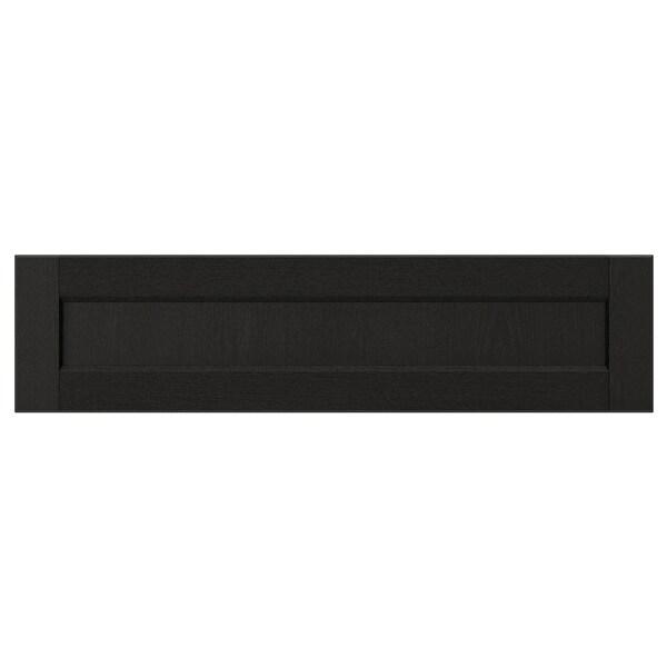 LERHYTTAN เลียร์ฮึตตัน หน้าลิ้นชัก, ย้อมสีดำ, 80x20 ซม.