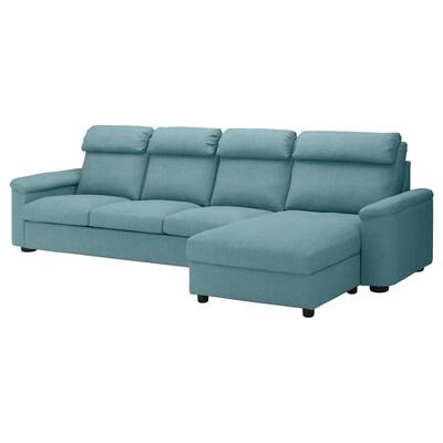 LIDHULT ลีดฮูลท์ โซฟา4ที่นั่ง, +เก้าอี้นวมตัวยาว/กัสเซบูล น้ำเงิน/เทา