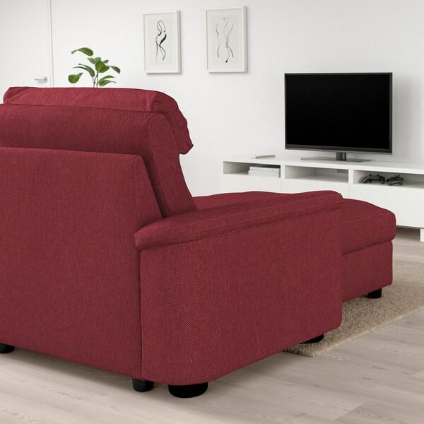 LIDHULT ลีดฮูลท์ โซฟา4ที่นั่ง, +เก้าอี้นวมตัวยาว/เลย์เด สีน้ำตาลแดง