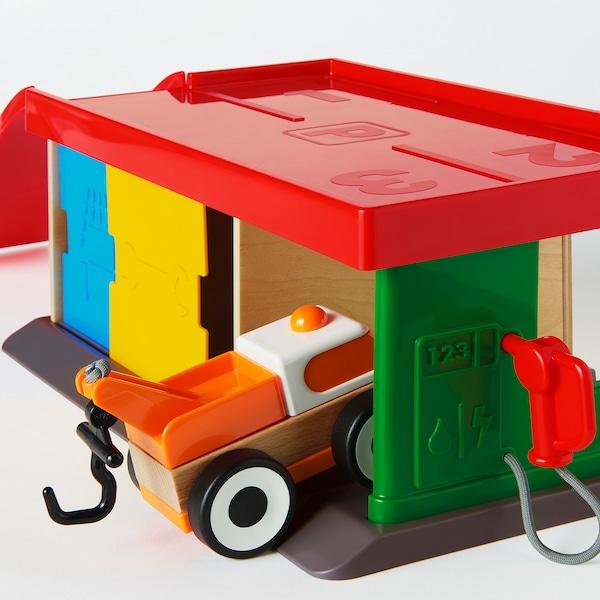 LILLABO ลิลลาบู ชุดของเล่นโรงรถพร้อมรถลาก