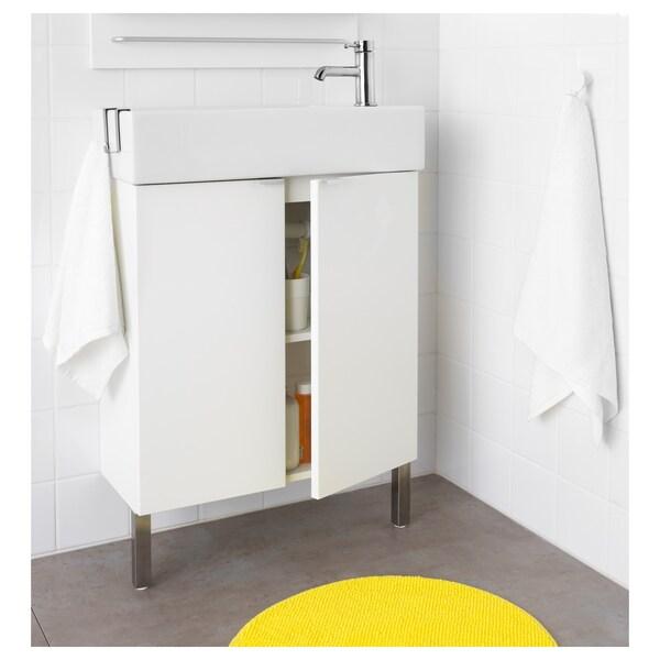 ลิลลงเง่น ตู้อ่างล้างหน้าบานคู่, ขาว, 60x25x64 ซม.