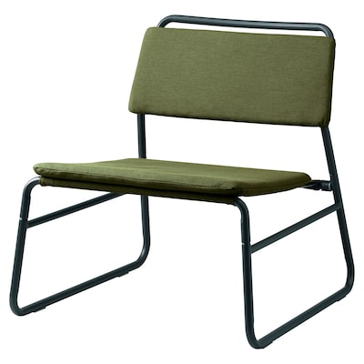 LINNEBÄCK ลินเนแบค เก้าอี้พักผ่อน, อุชต้า สีเขียวมะกอก