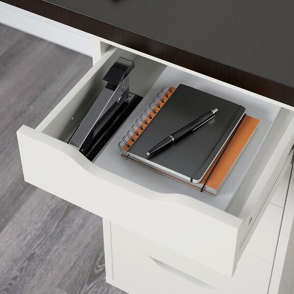 LINNMON ลินมูน / ALEX อเล็กซ์ โต๊ะ, น้ำตาลดำ/ขาว, 200x60 ซม.