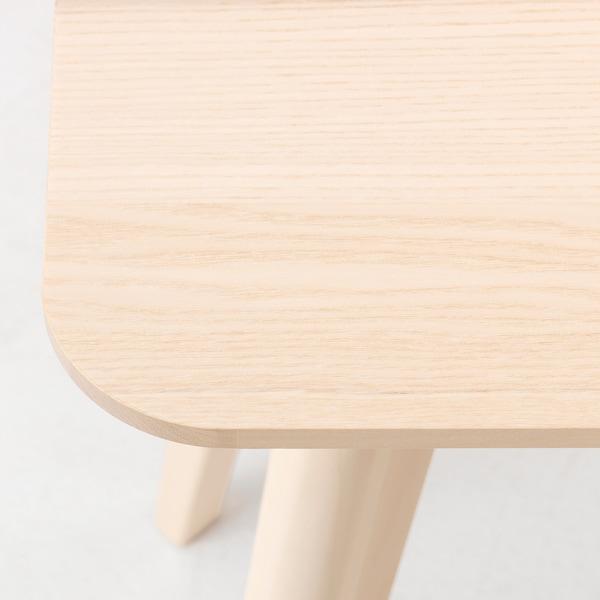LISABO ลิซาโบ โต๊ะข้าง, วีเนียร์แอช, 45x45 ซม.