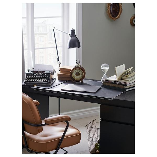 MALM มาล์ม โต๊ะทำงาน, น้ำตาลดำ, 140x65 ซม.