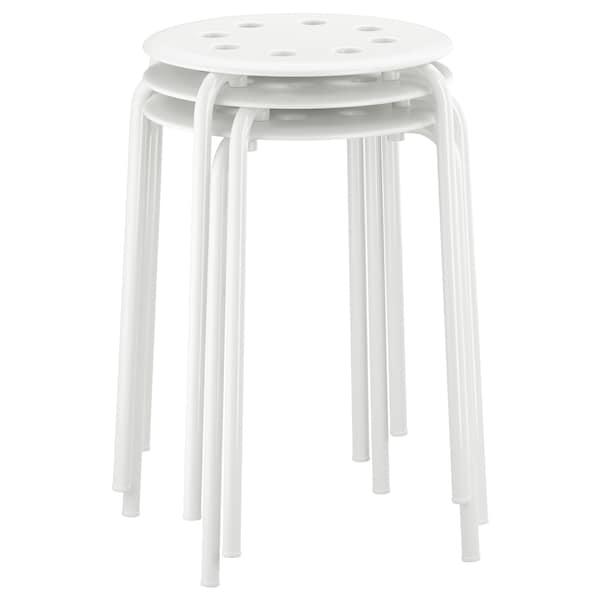 MARIUS มาริอุส เก้าอี้สตูล, ขาว, 45 ซม.