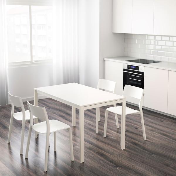 MELLTORP เมลทอร์ป โต๊ะ, ขาว, 125x75 ซม.