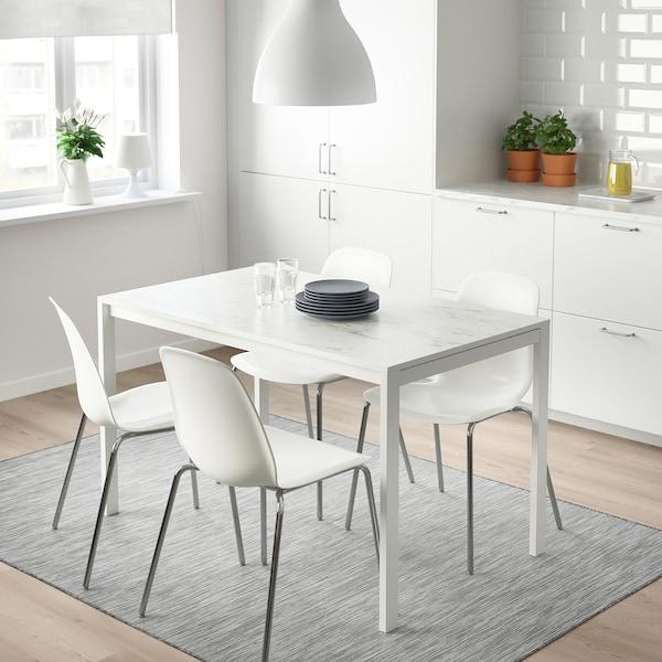 เมลทอร์ป โต๊ะ ขาว หินอ่อน/ขาว 125 ซม. 75 ซม. 74 ซม.