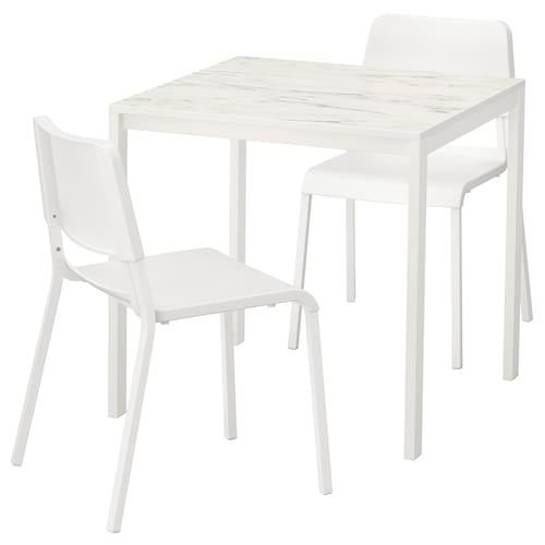IKEA เมลทอร์ป / ทีโอดอเรส ชุดโต๊ะและเก้าอี้ 2 ตัว