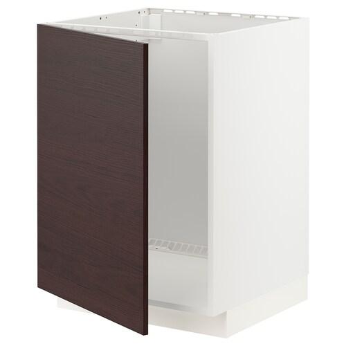 เมท็อด ตู้ตั้งซิงก์ ขาว อัสเคอร์ชุนด์/น้ำตาลเข้ม ลายแอช 60.0 ซม. 61.6 ซม. 60.0 ซม. 80.0 ซม.