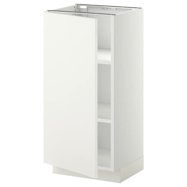 เมท็อด ตู้ตั้งพื้นมีชั้นวาง ขาว/แฮกเกบือ ขาว 40.0 ซม. 37 ซม. 38.6 ซม. 80.0 ซม.