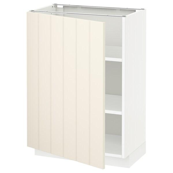 เมท็อด ตู้ตั้งพื้นมีชั้นวาง, ขาว/ฮิททาร์ป ออฟไวท์, 60x37x80 ซม.