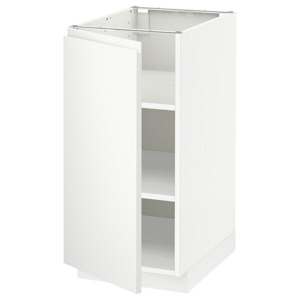 เมท็อด ตู้ตั้งพื้นมีชั้นวาง, ขาว/วอกซ์ทอร์ป ผิวด้าน สีขาว, 40x60x80 ซม.