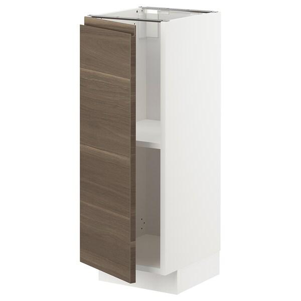 เมท็อด ตู้ตั้งพื้นมีชั้นวาง, ขาว/วอกซ์ทอร์ป ลายไม้วอลนัท, 30x37x80 ซม.
