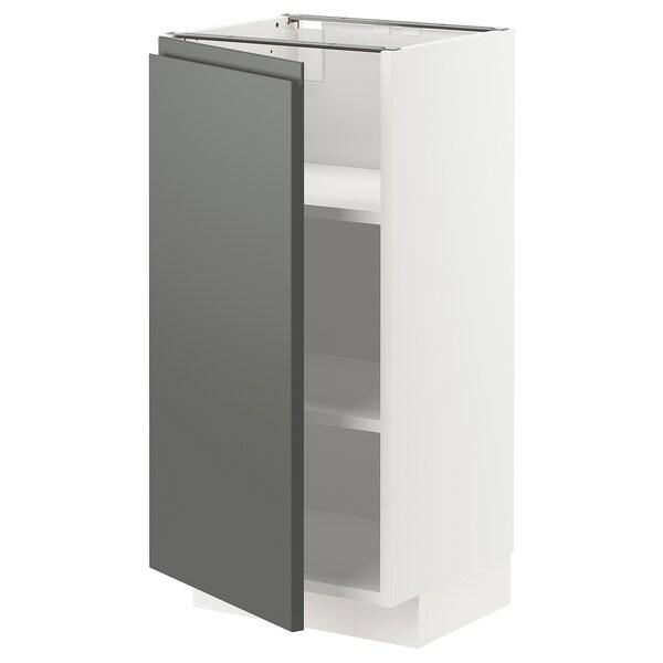 เมท็อด ตู้ตั้งพื้นมีชั้นวาง ขาว/วอกซ์ทอร์ป เทาเข้ม 40.0 ซม. 39.5 ซม. 88.0 ซม. 37.0 ซม. 80.0 ซม.