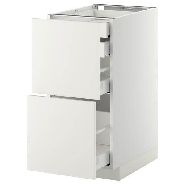 เมท็อด ตู้ตั้งพื้น4ลิ้นชัก/2หน้าลิ้นชัก ขาว มักซีเมอร่า/แฮกเกบือ ขาว 40.0 ซม. 61.6 ซม. 60.0 ซม. 80.0 ซม.
