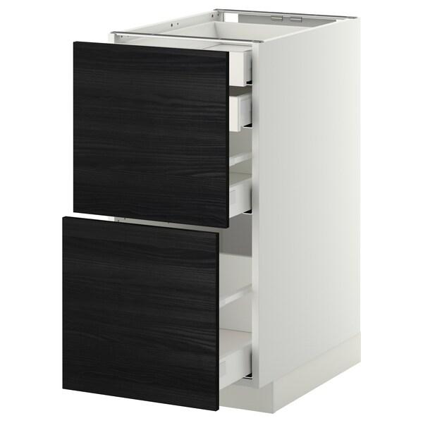 เมท็อด ตู้ตั้งพื้น4ลิ้นชัก/2หน้าลิ้นชัก ขาว มักซีเมอร่า/ทิงสรีด ดำ 40.0 ซม. 61.6 ซม. 60.0 ซม. 80.0 ซม.