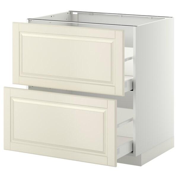 เมท็อด ตู้ตั้งพื้น2ลิ้นชัก/2หน้าลิ้นชัก ขาว มักซีเมอร่า/บู๊ดบิน ออฟไวท์ 80.0 ซม. 61.9 ซม. 60.0 ซม. 80.0 ซม.