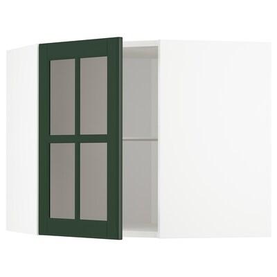 METOD เมท็อด ตู้แขวนเข้ามุม+ชั้น/บานกระจก